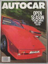 AUTOCAR 13/5/1987 featuring Toyota Celica GT, TVR 390SE, 420SEAC