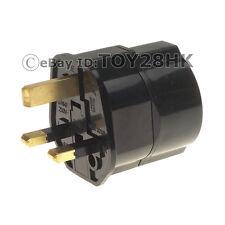 Schuko/Germany/France/S.Korea to UK Adapter Power Plug BS1363 Fused Black