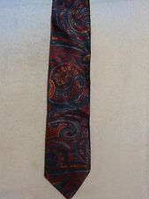 Used Mens Necktie- The American Edition Collection- Multi Colored Paisley- USA