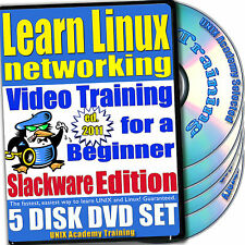 Learn Linux Networking DVD Video Training Slackware Set