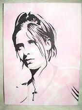 Canvas Painting Sarah Michelle Gellar as Buffy Vampire Slayer 16x12 inch Acrylic