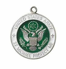 ARMY St Michael Sterling Silver Medal with Chain (SS243AW) NEW with Jewelry Box