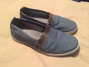 Men's Clarks Canvas Shoes Neelix Free Blue Size 7 Great Condition Plenty Life