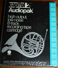 8 TRACK CARTRIDGE TAPE BLANK UNRECORDED 64 minutes Capitol 2 audiopak