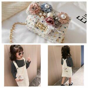Kids Girls Flowers Shoulder Messenger Bags Crossbody Wallet Child Handbag
