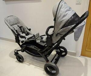 ABC Design Zoom Sahara Pushchairs Double Seat Stroller