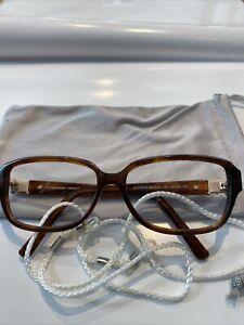 SWAROVSKI Brillengestell Damen gebraucht braun Mit Microfasertuch u Band