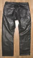 "hüftige "" HIGHWAY 1 "" Damen- LEDERJEANS / Biker- Lederhose in schwarz in Gr. 40"