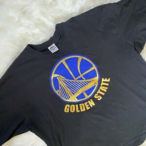 Golden State Warriors Black T Shirt Mens 5XL Plus Size black Gold Pro Athletic