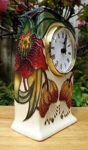 Moorcroft Anna Lily Clock CL1 First Quality RRP £345 Floral  Nicola Slaney