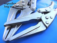 2 PC LONG NOSE LOCKING PLIERS SET, LOCK JAW, MOLE GRIP, VISE GRIP WRENCH