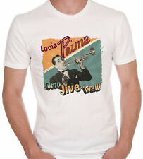 Louis Prima t-shirt white jump jive swing music 40s dance lindy hop retro boogie