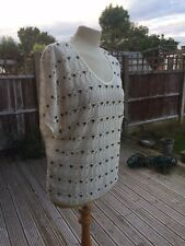 Apricot Studded Cream Jumper / Sweater Sz Med 12 / 14