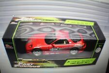 2 Fast& 2 Furious 1993 Red Mazda RX-7  RC Ertl 1:18 #36973.NOS
