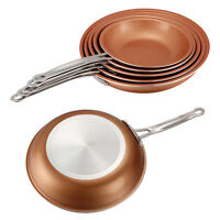 22/24/26/28cm Copper Non-Stick Cooking Pan Frypan Frying Pan Skillet Kichen Pan