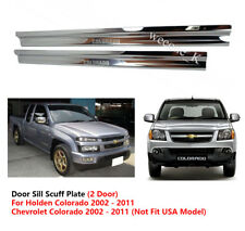 2 DOOR SILL SCUFF PLATE USE FOR CHEVROLET / HOLDEN COLORADO 2002 - 2011