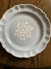 "Vintage Rare Pfaltzgraff Gazebo Blue Bouquet Blue Dinner Plates 10.5"""