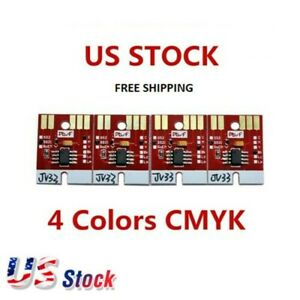 Chip Permanent for Mimaki JV33 SS21 Cartridge 4 Colors CMYK US Stock