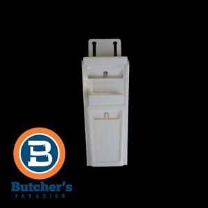"Butchers White 9"" Dual Slot Knife Pouch Holder  Protective Kit Hard Plastic"