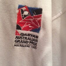 Qantas Australian Melbourne F1 Grand Prix 1997 Men's XL Polo Shirt White Racing