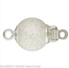 8mm STERLING SILVER STARDUST PEARL / BEAD NECKLACE PUSH IN JEWELLERY CLASP CATCH