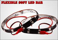 "12""/30CM 2PCS Red Flexible Underbody LED Strip Light Bar 5050 SMD Waterproof 12V"