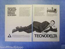 QUATTROR982-PUBBLICITA'/ADVERTISING-1982- TECNODELTA -2 fogli