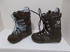 WOMENS BURTON SAPPHIRE BROWN BLUE SNOWBOARD BOOTS SZ 9
