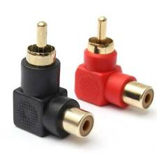 2pc Right Angle RCA Male Female Adapter Plug Connector Jack Audio 90 degree
