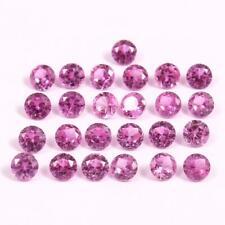 1.5x1.5 MM Natural Pink Ceylon Sapphire Cut Loose Round Gemstone 20 Pcs Lot