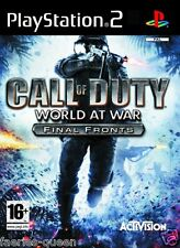 Call OF DUTY WORLD AT WAR fronti finale per PS2 SONY PLAYSTATION 2 manuale incl.
