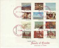 Senate Of Canada cachet -FDC - sc#966a -Jumbo 1982 Canadian Artists,