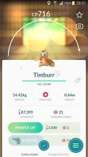Pokemon Go Account with Shiny TIMBURR