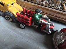 Vintage Cast Iron Trike Bike Bicycle Kid Car Toy Collectible