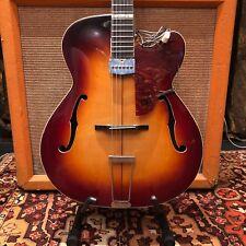 Vintage 1950s Zenith Super 33 Deluxe MINT Sunburst Guitar w Hofner Pickup 4.8lbs