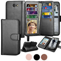 For Samsung Galaxy J7 2017 / J7 Prime Leather Wallet Case Flip Stand Phone Cover