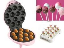 Pink Electric 12 Hole Pop Cake Maker Kit With Cake Pop Display Stand