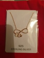 sterling silver 925 rose gold plated infinity heart ring necklace