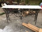 Gothic Wrought Iron & Marble Console Table Hall Art Nouveau 1890s