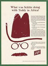 SCHLITZ Milwaukee Beer -Teddy Roosevelt's choice -1963 Vintage Print Ad # 193 1