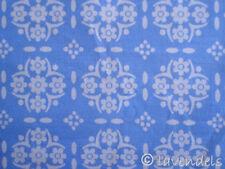 0,5 m Stoff Baumwolle ♥ Ökotex ♥ vintage blau ♥ Muster Blumen