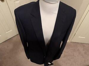$ 995 Samuelsohn  wool navy jacket  hand made in Canada size 44 long