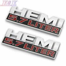 2pcs Car body Emblem Sticker Badge for HEMI 5.7 LITER