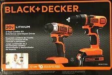 BLACK+DECKER - BD2KITCDDI - 20V MAX* Drill/Driver + Impact - Combo Kit