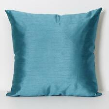 Whitakers Finest Plain Faux Silk Euro 65cm x 65cm Cushion with Inner Pad - Teal