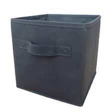 H & L Russel Gris Boîte de Rangement pliable avec Couvercle Grand