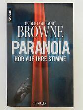 Robert Gregory Browne Paranoia Hör auf ihre Stimme Roman Thriller Knaur Verlag