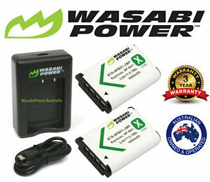 NPBX1 Battery Wasabi Power x 2 & Dual USB Charger for Sony NP-BX1, NP-BX1/M8