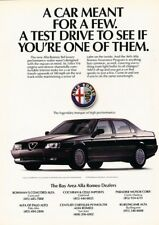 1991 Alfa Romeo 164 - Original Advertisement Print Art Car Ad J877