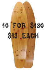 "10 Mini Longboard Skateboard Decks 26"" x 7"" Bamboo"